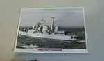 1980 HMS Nottingham Destroyer  warship framed picture
